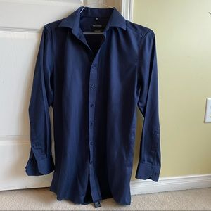 Navy Blue Bellissimo Dress Shirt in size 32/33